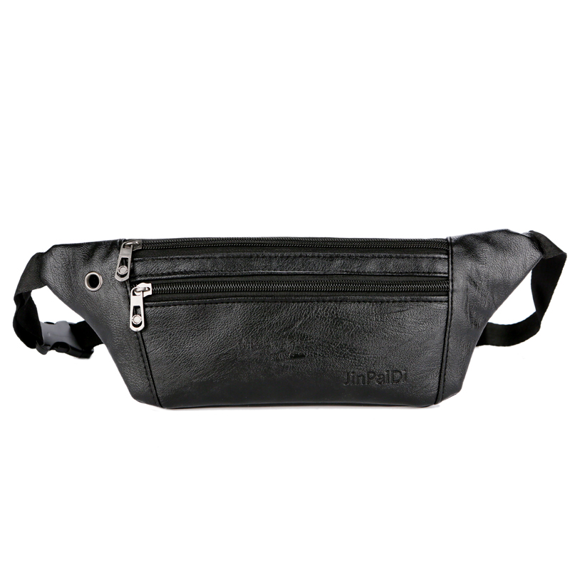 2019 Casual Leather Waist Bag Men Money Phone Fanny Pack Vintage Men's Leather Waist Belt Bag Small Travel Waist Packs Male(China)