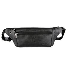 2ac89db23 2019 bolso de cintura de cuero Casual para hombre dinero teléfono riñonera  Vintage de cuero para hombre cintura bolsa pequeña ci.