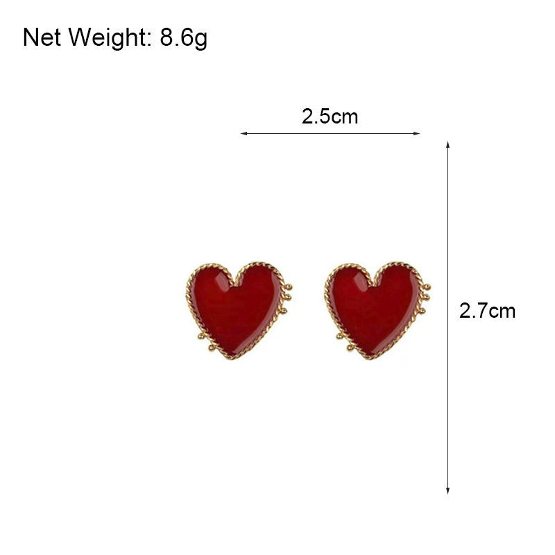 HTB1 33cXRv0gK0jSZKbq6zK2FXaf - AENSOA Vintage Bohemia Big Red Heart Earrings For Women Fashion Girl Large Sweet Heart Statement Earrings Party Jewelry