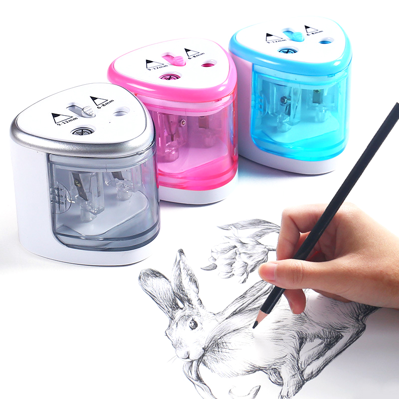 Multifunction Automatic Two-hole Electric Pencil Sharpeners School Stationery Supplies for studentMultifunction Automatic Two-hole Electric Pencil Sharpeners School Stationery Supplies for student