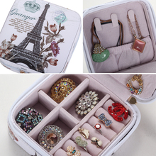 PU Leather Fashion Casket Mini Jewelry Storage Box