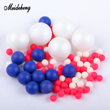 Meideheng ABS Round Beads  Imitation Pearl No Hole Beads Jewelry Making Slime Crystal Mud Filler Handmade Accessories for Design meideheng acrylic circle beads transparent electroplating slime crystal mud filler ornament accessories for hair ring needlework