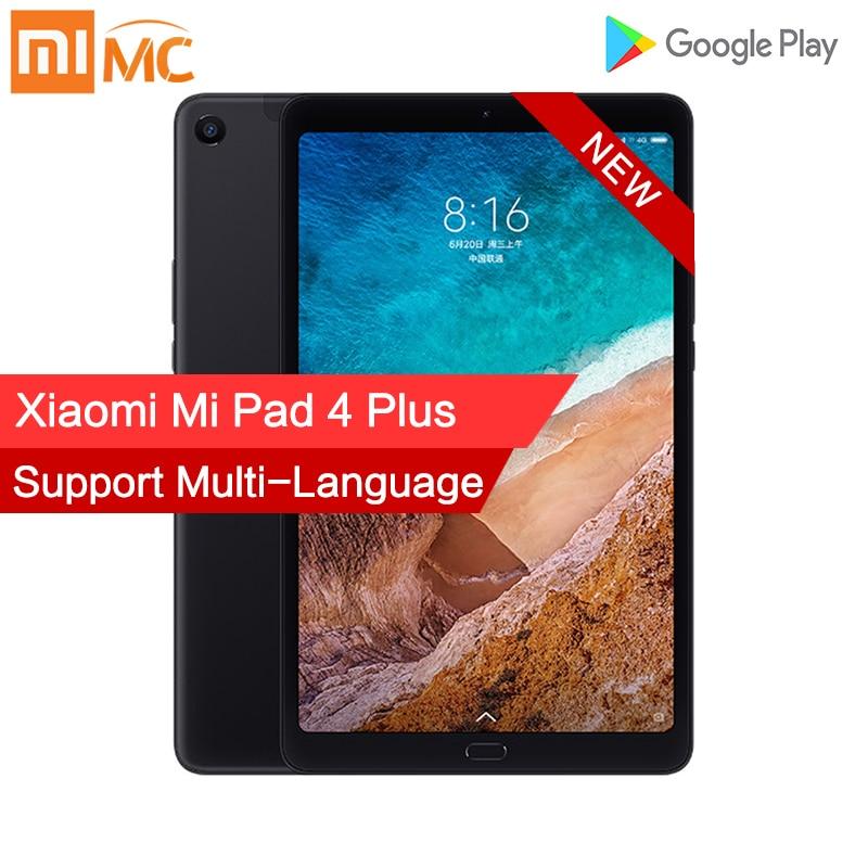 Xiao mi mi Pad 4 Plus 4GB GB Snapdragon 660 AIE 64 mi Pad 4 Mais LTE 8620mAh bateria 10.1 ''16:10 1920x1200 Tela 13.0MP 4 Comprimidos
