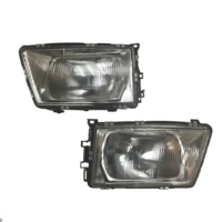 1 Pair New Genuine Head Light Lamp headlight for Audi 100 C3 Auto Front Lamp 1983 1990