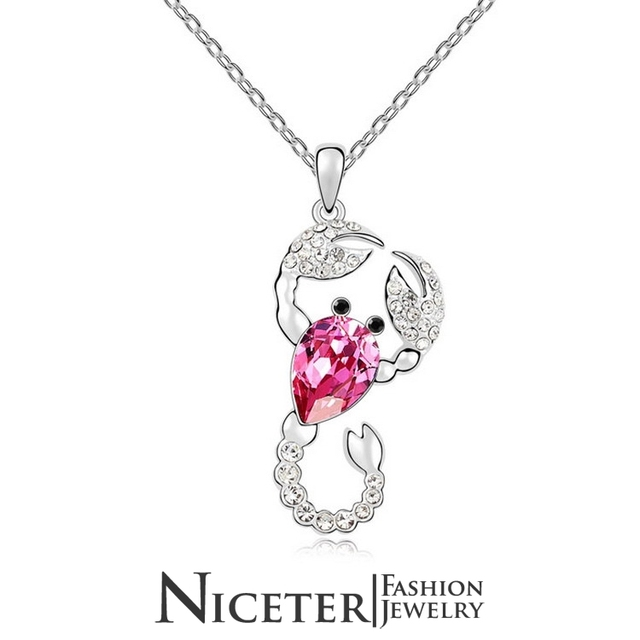 NICETER Free Shipping 925 Sterling Silver Jewelry For Ladies Necklace Pendents Made With Austrian Crystal Necklace N8034