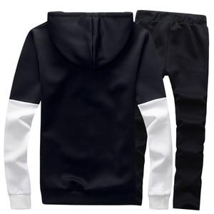 Image 2 - Спортивный костюм мужской с надписью, кофта с капюшоном и штаны, комплект спортивной одежды, большой размер s 5XL