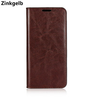 For Samsung Galaxy S9 Case Cover Luxury Genuine Leather Soft TPU Silicone Card Holder Flip Case