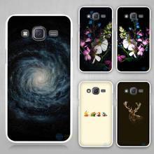 Starry anime wolf storm Hard White Case Cover for Samsung Galaxy J1 J2 J3 J5 J7 C5 C7 C9 E5 E7 2016