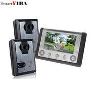 SmartYIBA 7 Zoll LCD Video-türsprechanlage Türklingel Intercom Kit 2-camera 1-monitor Nachtsicht mit IR-CUT HD 700TVL Kamera