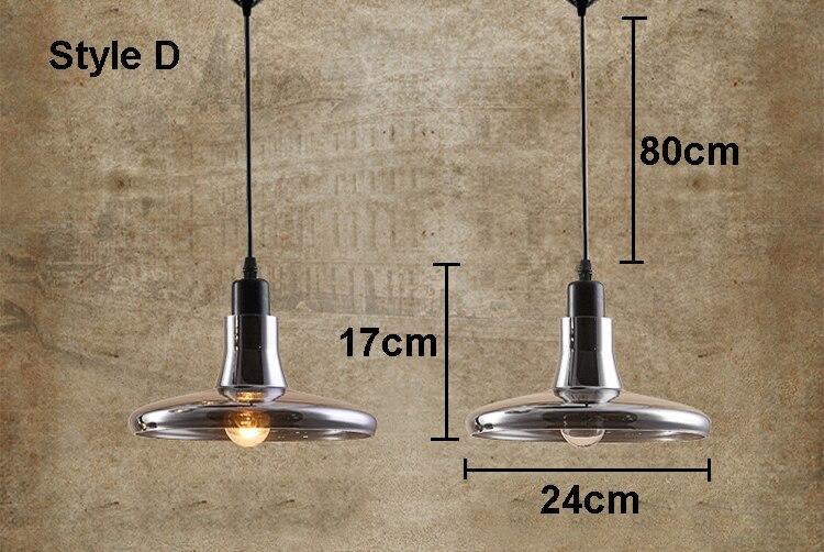 loft vintage pendelleuchte grau klar glas lampen e27 birnen led h ngeleuchten ebay. Black Bedroom Furniture Sets. Home Design Ideas