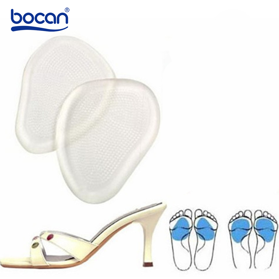 Bocan GEL Insoles for High Heels Insoles Anti-slip Tape Transparent Silicon Soft Feel Foot Pain Expand Shoes Size Half Yardage 2017 plus size gel insoles soft