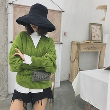 2018 New Knitted Pullover Bat Sleeve Sweater CS7