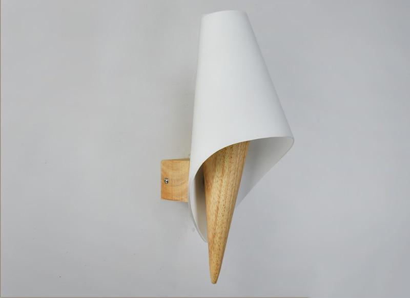 Brightinwd moderna conchiglia a forma di natura di legno lampada