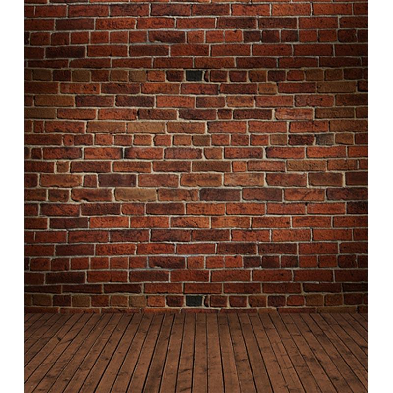 Pano de vinil personalizado retro parede de tijolo
