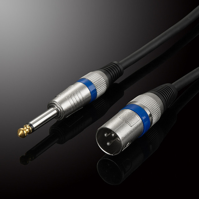 6.35mm Male to XLR Male Audio Cable TRS XLR Audio Wire Mono OFC ...