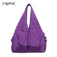 Women Handbag Casual Large Shoulder Bag Nylon Tote Famous Brand Purple Handbags Mummy Diaper Bags Waterproof bolsas Black