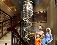 Free shipping holiday sales suprise price guaranteed 100% spiral design Dia600*H3000mm contemporary crystal chandelier DJ3
