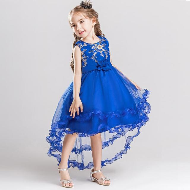 Kid Girls Wedding Flower Dress Elegant Princess Party Pageant Formal