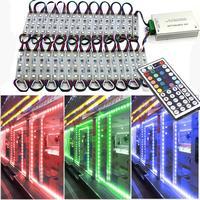 Módulo de luz de rgb  3 led dc12v à prova d' água smd 5050 led para janela da loja propaganda sinal de luz módulos cor