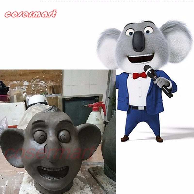 2016 Movie Sing Cosplay Buster Moon Latex  Mask Koala Animal Mask Halloween Party
