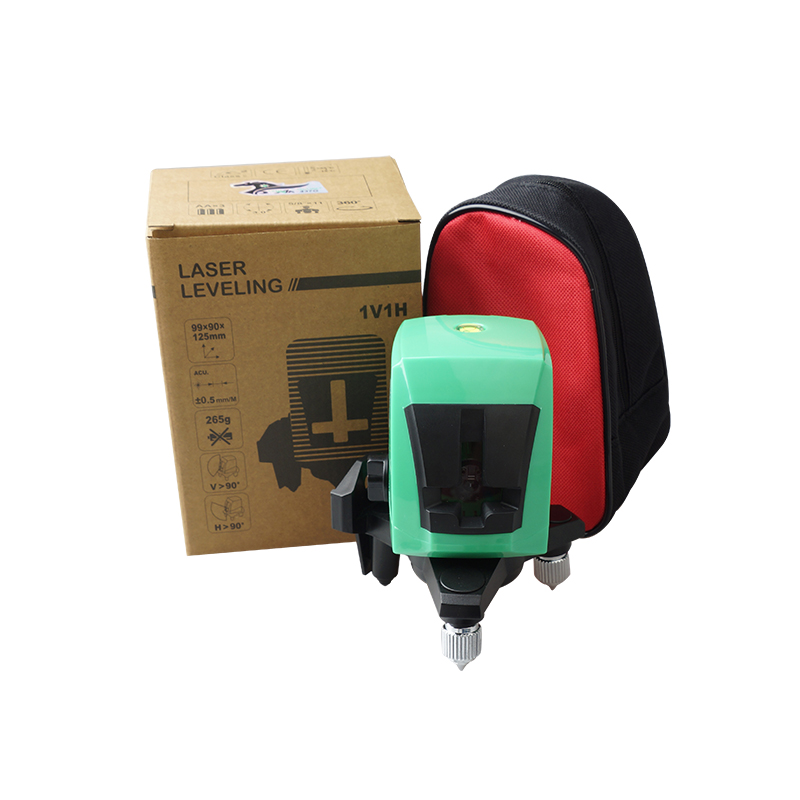 ACULINE AK437G 2 lines Green Laser Level Self Leveling 1V1H 360 degree Horizontal and Vertical Cross