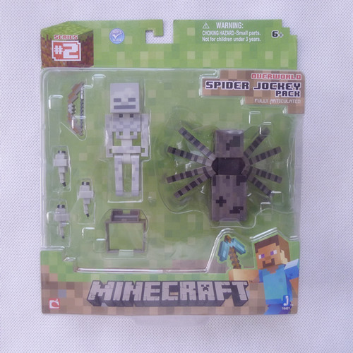 Minecraft Overworld Spider Jockey Pack By Original Jazwares Toys & Games Action Figure New in Box