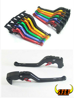 3D Long CNC Adjustable Motorcycle Brake And Clutch Levers With Carbon Fiber Inlay For Kawasaki ZX6R