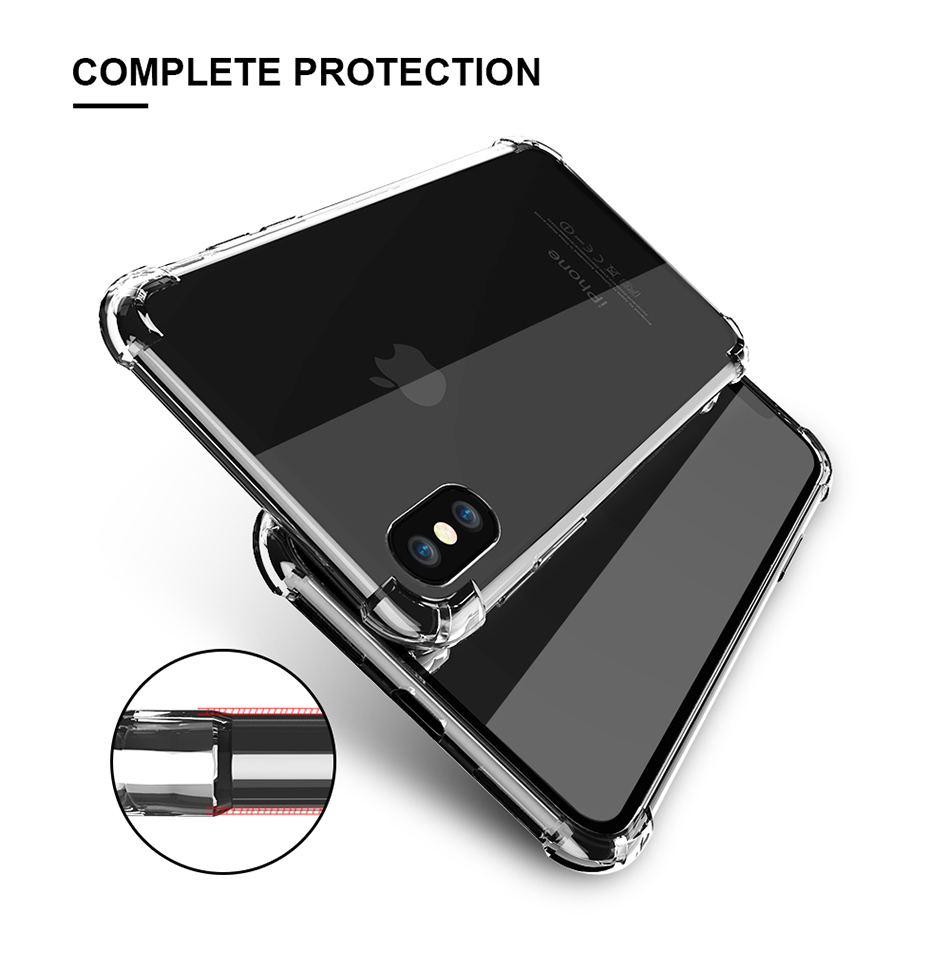 Anti-knock Clear Silicon Shockproof Cover with TPU iPhone Case 3