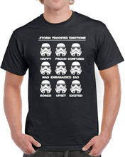 228 Storm Trooper Emotions mens T-shirt star geek nerd wars new force empire new Print Tee Short Sleeve Clothing free shipping стоимость