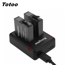 Cho Bộ Máy 360 1 X Dual Khe Cắm Đèn LED + 2 Pcs 1150 MAh Pin Thay Thế Insta360 One X 360 Camera Phụ Kiện Sạc