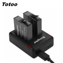 Für Insta 360 One X Dual Slots Led Ladegerät + 2PCS 1150mAh Ersatz Batterie Für Insta360 One X 360 kamera Lade Zubehör