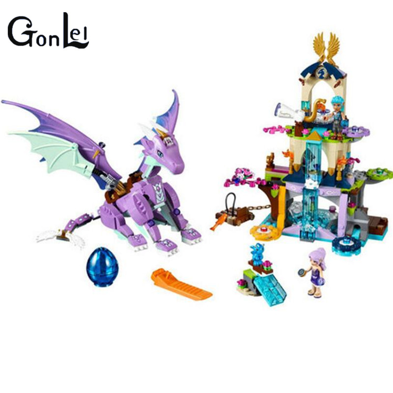 (GonLeI)10549 BELA Elves The Dragon Sanctuary Building Bricks Kit Blocks Educational Toys Compatible with 41178 Friends chris wormell george and the dragon