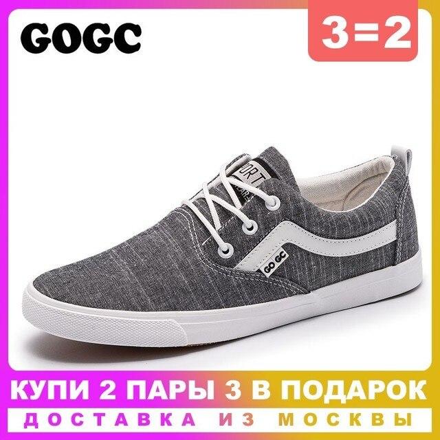 GOGC 2019 Yeni bahar rahat ayakkabılar Erkekler Sneakers kanvas ayakkabılar Erkekler düz ayakkabı Dantel-up vulkanize ayakkabı erkek mokasen ayakkabıları slipony G948