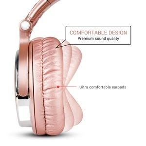 Image 3 - OneOdio profesjonalne Studio DJ przewodowe słuchawki z mikrofonem na ucho monitory HiFi muzyczny zestaw słuchawkowy słuchawka do telefonu PC różowy
