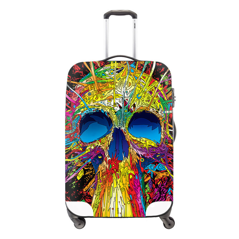 Aliexpress.com : Buy Cool Skull Print Travel Luggage Protective ...