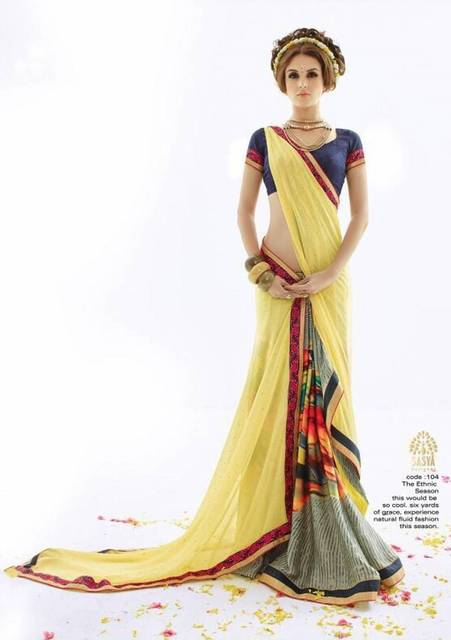 0ad213c063 Sexy Short Sleeves Women Sarees Traditional Indian Women Dress Lemon Multy  Grey color Charming Party Gown India Sari Gift