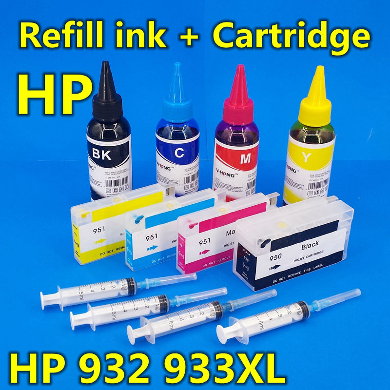 bulk refill ink cartridge for Officejet 6100 6600 6700 7110 7510 7610 7612 (+ 4pcs refill Ink) 932xl 933xl citilux бра citilux cl921018