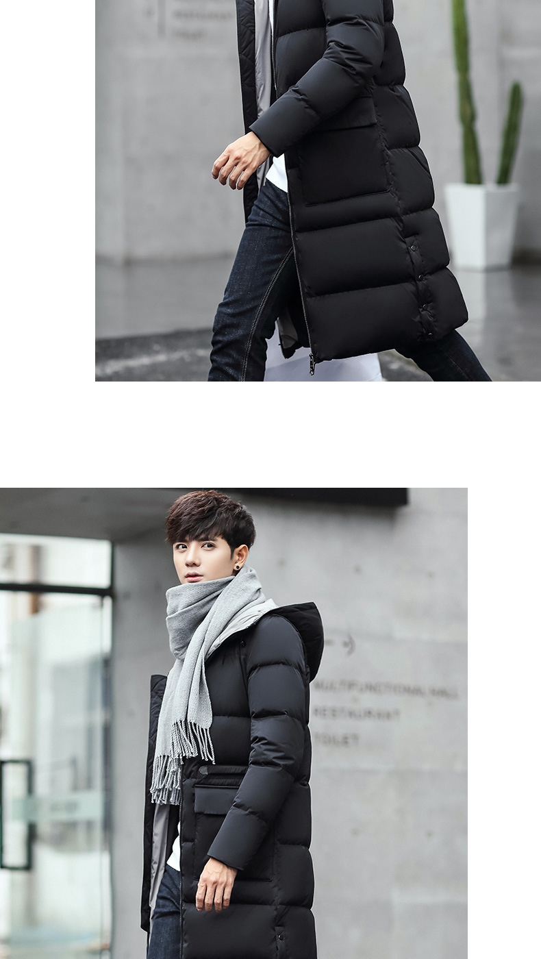 6e2a62e7b 2016 Men Down Jacket In The Long Winter Coat Slim Youth Thickened ...