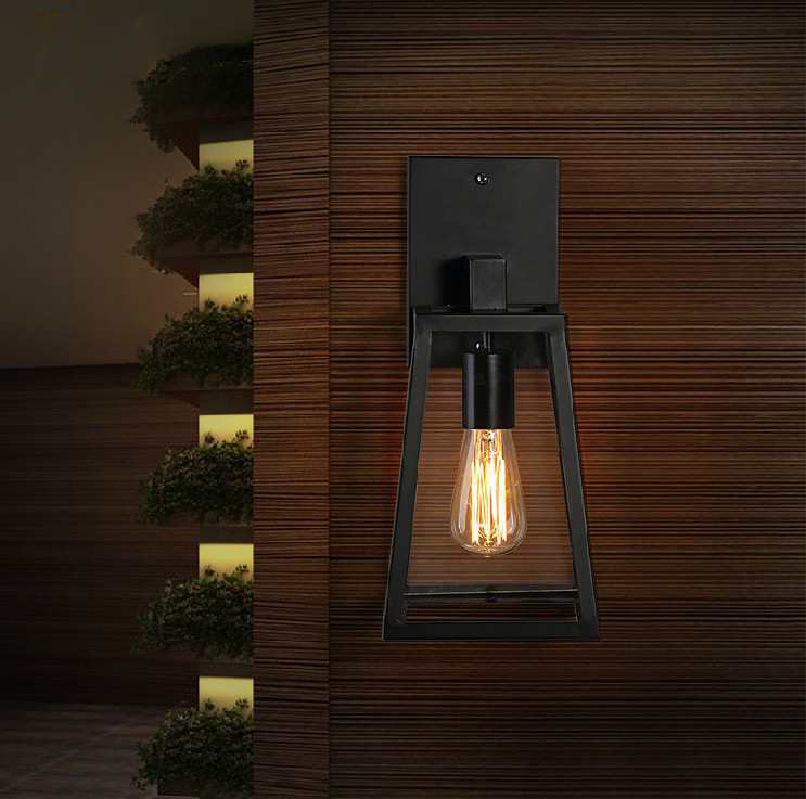 Edison Clear Glass Modern Outdoor Lighting Vintage Industrial Wall Lights  For Home Industrial Wall Light Home