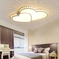New Arrival Sweet Heart Modern Led Chandelier For Bedroom Children Kid's Room Home Dec Surface Mounted Chandelier