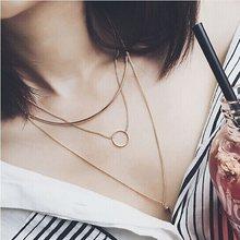 2016 koreanische Mode Multideck Design Lange Halskette Joker Einfache Schlüsselbein Kolye Für Frauen Party Zubehör