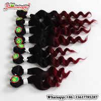 Tiefes lockiges brasilianisches haar farbige 1b/burgund kurze lockige haar 8-14 zoll afro verworrene lockige webart natürliche haar für mädchen