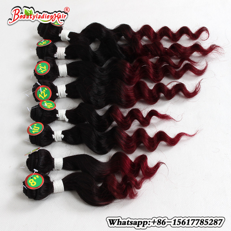 deep curly brazilian hair colored 1b/burgundy short curly hair 8-14inches afro kinky curly weave natural hair for girls