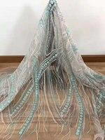 Высший сорт 3D цветок из бисера кружевной ткани в африканском стиле Французский кружевной ткани с бисером иглами вручную 15 ярдов/партия QG565