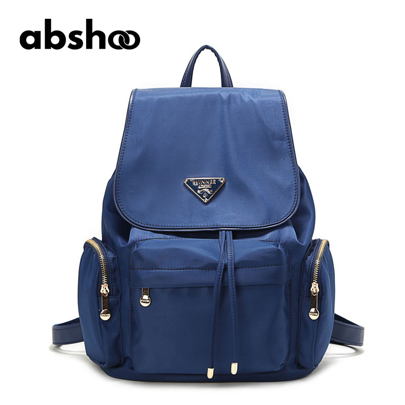Abshoo Women String Backpacks Casual Travel String Bags Solid Colors Oxford Backpacking Backpack Female Ladies Bag