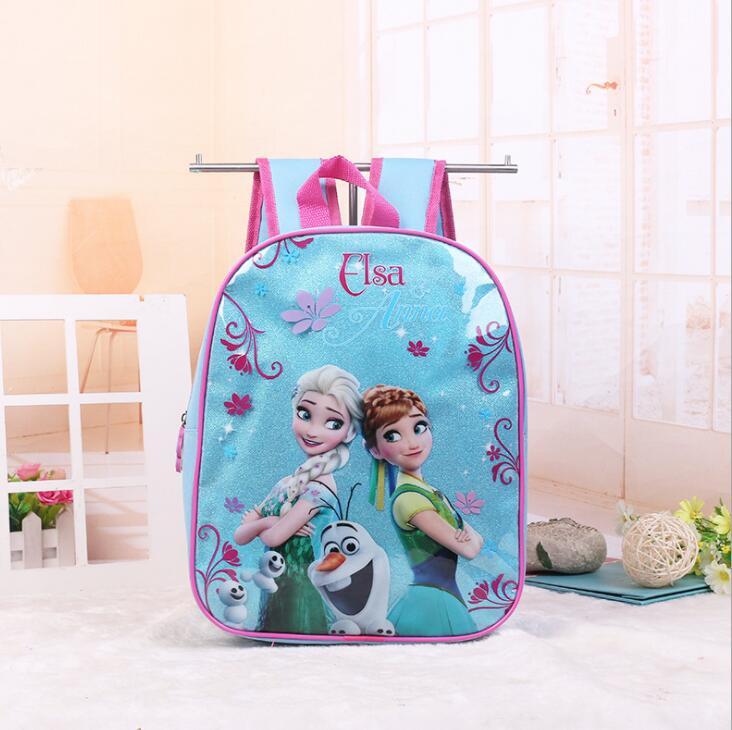 New Kids Cartoon Elsa Anna Schoolbag Girls Princess Cute School Bag Sofia Kindergarten Backpacks  01