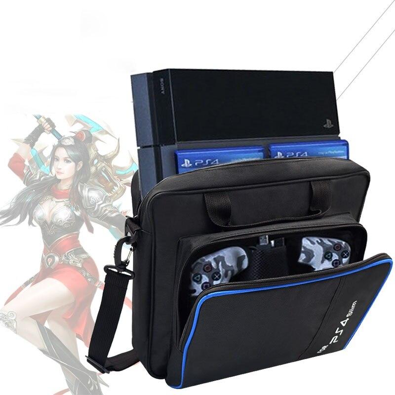 For PS4 Slim Game Sytem Bag Original size For PlayStation 4 Console Protect Shoulder Carry Bag Handbag Canvas Case