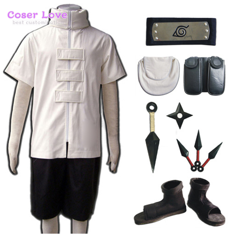 Naruto Hyuuga Neji whole set Cosplay Costume Headband Accessories Shoes Full Set Carnaval Halloween Christmas Costume