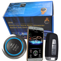 gsm car alarm security system mobile app central lock keyless entry engine start stop button bluetooth pke auto central lock