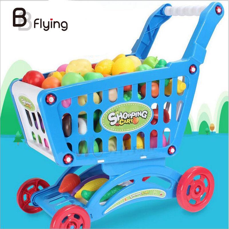 Kinder Kinder Shopping Trolley Warenkorb Korb Spielen Spielzeug ...